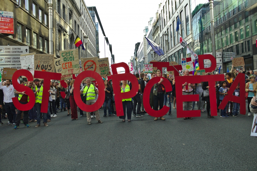 CETA Protest in Brussels 2016