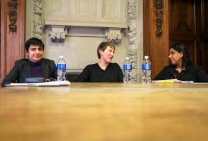 Gender-Based Violence panel; L-R: Vasanthi Venkatesh, Paula Tenaglia, Jasteena Dhillon discuss
